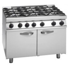 Fagor CGB7-61 H 6 Burner Gas Range with UK Style Oven