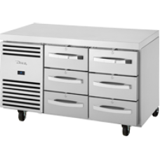 TRUE TCR1/2-CL-SS-3D-3D 6 Drawer Refrigerated Counter with SS Top