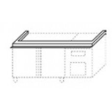 Frame for refrigerated bases with aesthetic profile including side returns 1200mm