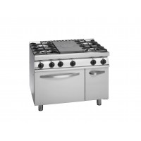 700 Series, Centre Solid Top And 4 Open Burners With Gas Oven