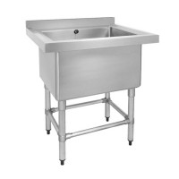 Stainless Steel Bench with Single Deep Pot Sink