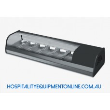 Countertop Refrigerated Display Curved Glass 6*GN 1/3