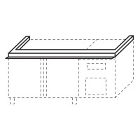 Queen9 refrigerated base stacking kit 1200mm