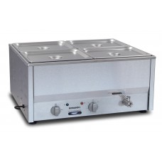Counter Top Bain Marie, four 1/2 size pans, 100mm pans & lids included