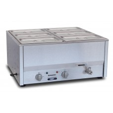 Counter Top Bain Marie, six 1/3 size pans, 150mm pans & lids included