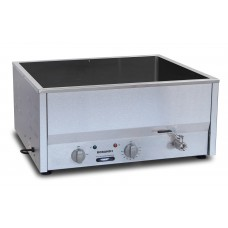 Counter Top Bain Marie, four 1/2 size pans, wet only, thermostat control 30-120°C