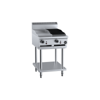 B+S Black Combination 300mm Grill Plate 300mm Char Broiler