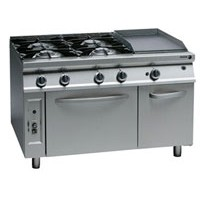Gas Range With Fry-Top