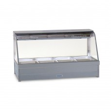 Curved Hot foodbar, double row, with 8 x 1/2 size 65mm pans
