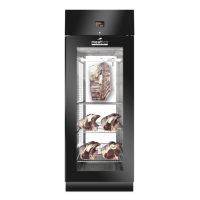 AC9308 Black Dry Age Meat Cabinet Single Door With Front Glass