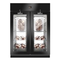 AC9318 Black Dry Age Meat Cabinet Double Door With Front Glass