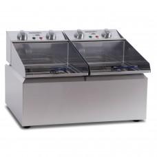 Countertop Double pan fryer, 2 x 8 litre tanks