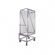 Additional roll in/out trolley for model OPV..201. Takes 20x1/1 GN trays (GKS T21). 490x715x1710mm