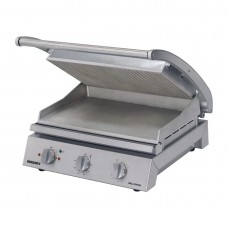 6 slice grill station, ribbed top plate and smooth bottom plate (10amp)