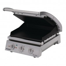 6 slice grill station, smooth plates, non-stick coated (10amp)