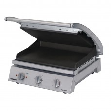 8 slice grill station, smooth plates, non-stick coated (10amp)