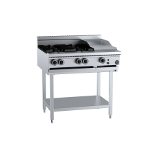 K+ Combination Four Open Burners 300mm Grill Plate