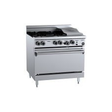 K+ Four Burner Oven With 300mm Grill Plate
