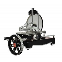 Traditional flywheel slicer, black blade diameter 320mm