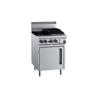 B+S Black Oven With Two Open Burners 300mm Char Broiler