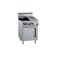 B+S Black Oven With Two Open Burners 300mm Grill Plate