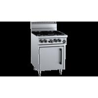 B+S Black Four Burner Oven