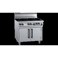 B+S Black Six Burner Oven