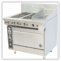 4 Solid Plate and 305 Griddle Range - 711mm Static Oven (28