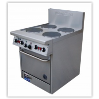 4 Solid Plate Range - 508mm Static Oven (20