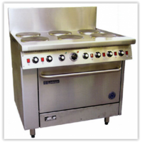 6 Solid Plate Range - 711mm Static Oven (28