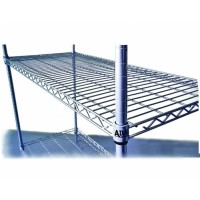 4 Shelf Wire Add-On Shelving Kit - 1830mmX455mm
