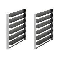 Queen7 Set of 1/1GN tray slides for cabinets (6 capacity)