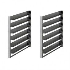 Queen7 Set of 2/1GN tray slides for cabinets (6 capacity)