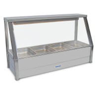 Straight Hot foodbar, single row, with 4 x 1/2 size 65mm pans