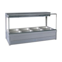 Square Hot foodbar, double row, with 12 x 1/2 size 65mm pans