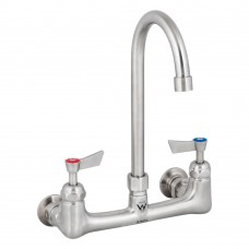 12 Stainless Steel Exposed Wall Gooseneck Spout Tap