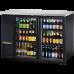 TRUE TBB-24-48G-LD 48, 2 Glass Door Black Back Bar Compact Refrigerator