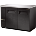 TRUE TBB-24-48 48, 2 Solid Door Black Back Bar Compact Refrigerator