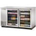 TRUE TBB-2G-S-LD 2 Glass Door Stainless Back Bar Refrigerator