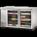 2 Glass Door Stainless Back Bar Refrigerator