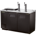 TRUE TDD-2CT 2 Solid Door Club Top Direct Draw Black Beer Dispenser