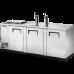 TRUE TDD-4CT-S 3 Solid Door Club Top Direct Draw Stainless Beer Dispenser