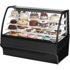 TRUE TDM-R-59-GE/GE-B-B 59, Refrigerated Display Merchendiser, Glass End, Black/Black