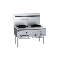 K+ Two Hole Waterless Wok Table