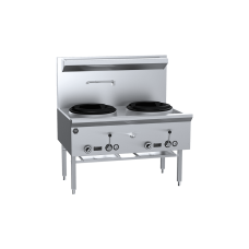 B&S Commercial Kitchens UFWWK-2 K+ Two Hole Waterless Wok Table