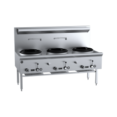B&S Commercial Kitchens UFWWK-3 K+ Three Hole Waterless Wok Table