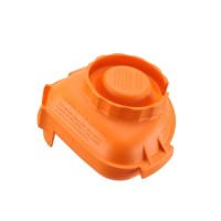 Advance one piece orange lid