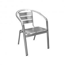 Alfresco Aluminium Armchair (Natural Polished)