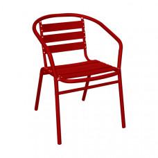Alfresco Aluminium Armchair (Red)