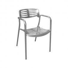 Alfresco Deluxe Aluminium Armchair (Natural Polished)